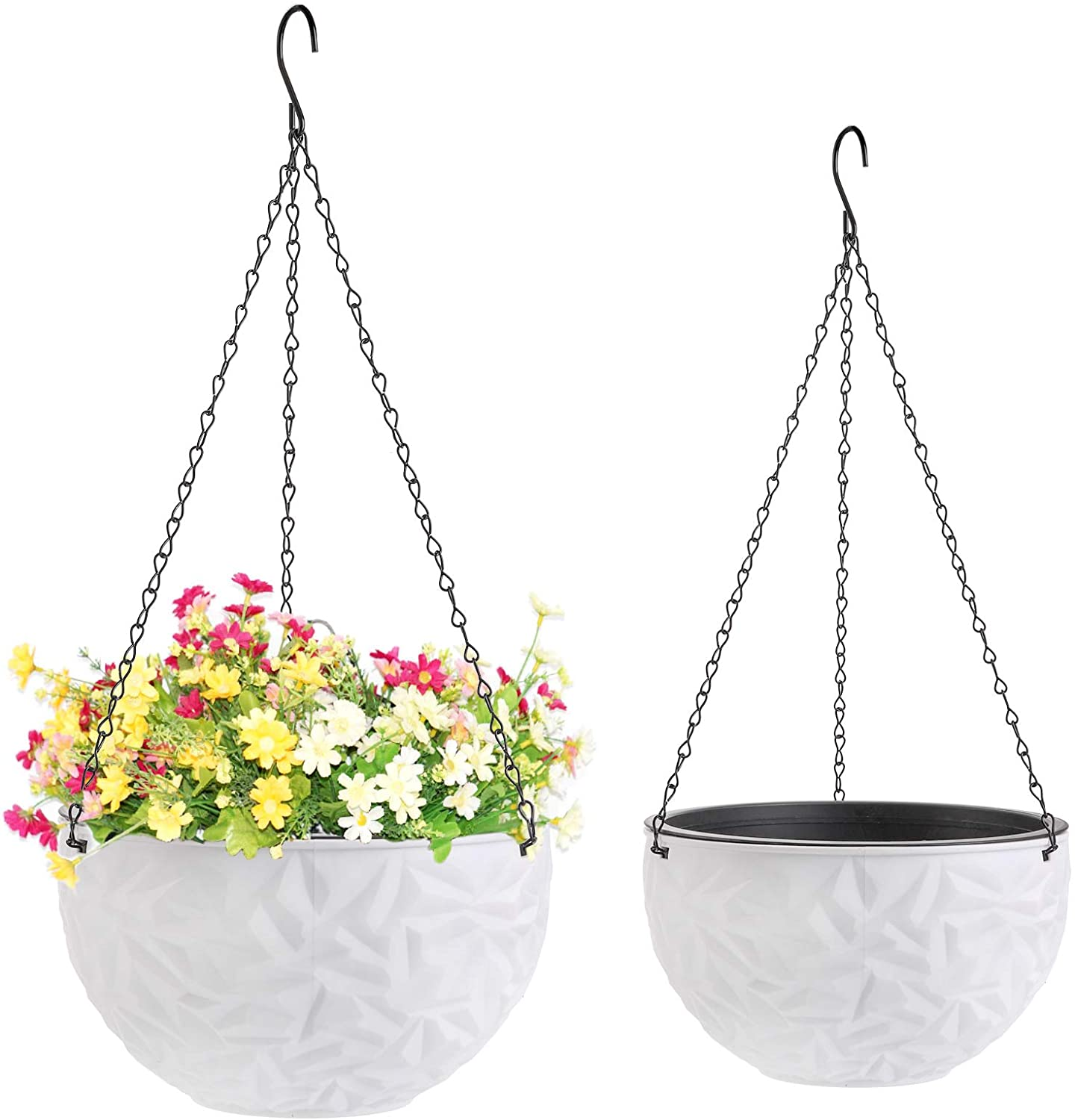 Foraineam Max 71% OFF Now on sale 2 Sizes Dual-pots Self-Wateri Hanging Planters Design
