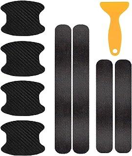 auvstar Adesivo per Maniglia Della Porta in Fibra di Carbonio per Tesla Model 3,Proteggi Copri Maniglia per Porta Automobilistica per Tesla Model 3 4 Pezzi//Set Adesivo Decorativo