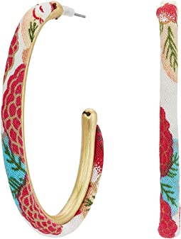 Lucky Brand Fabric Hoop Earrings