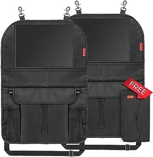 Universal Multi-Bolsillos Funda Protecci/ón para Asientos Trasero de con 1 Soporte de iPad EFULL 2 piezas- Organizadores para Coche Kick Mats de Coche 6 bolsillos de malla y 5 bolsillos