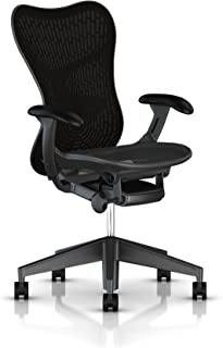 Herman Miller Mirra 2 Task Chair: Tilt Limiter - FlexFront Adj Seat Depth - Adj Lumbar Support - Butterfly Back - Adj Arms - Graphite Base & Frame