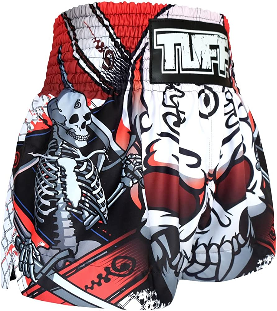 Tuff Sport Boxing Muay Thai Shorts Dragon Skull Kick Martial Arts Training Gym Clothing Trunks