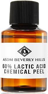 ASDM Beverly Hills Lactic Acid Peel 60% 1oz 30ml Medical Strength Treatment Hyperpigmentation, Age Spots, Melasma, Brighten Dull Skin Discoloration Uneven Complexion, AHA Chemical Peels, Sensitive Dry