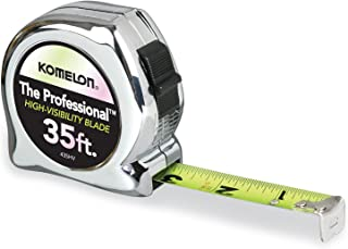 Komelon 435HV High-Visibility Professional Tape Measure, 35-Feet by 1-Inch, Chrome