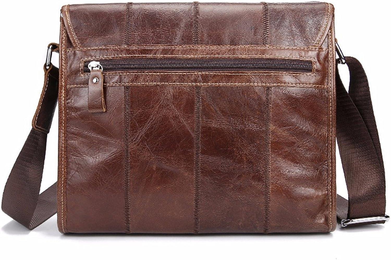 WanJiaherrenhop Die Messenger Messenger Messenger Bag Leather horizontal Umhängetasche Retro Herren Männer Messenger Tasche Freizeitaktivitäten Messenger Bags, 28 x 7 x 25 cm B077BYBCGM | Angemessener Preis  3c6147