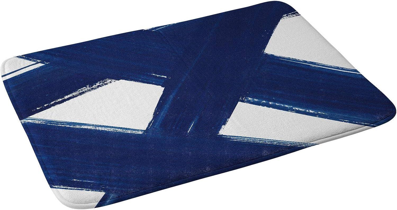 Society6 Kris Kivu Indigo Abstract Brush Bombing free shipping 3 Max 78% OFF No. Bath Ma Strokes