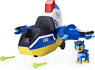 PAW Patrol, Jet to the Rescue Deluxe Transforming Spiral Rescue Jet with Lights and Sounds, Amazon Exclusive