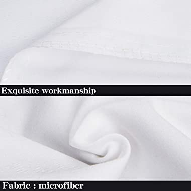 """NTBAY 100% Brushed Microfiber Pillowcases Set of 4, Soft and Cozy, Wrinkle, Fade, Stain Resistant, 20""""x 30"""", White"""