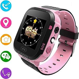 comprar comparacion Reloj inteligente para niños, rastreador GPS para niños niñas niños verano al aire libre cumpleaños con cámara SIM llamada...