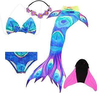 1e62801627bc COZY HUT Costumi da Bagno Sirena Bambina Coda di Sirena per Nuotare Bikini  5pcs per Ragazze