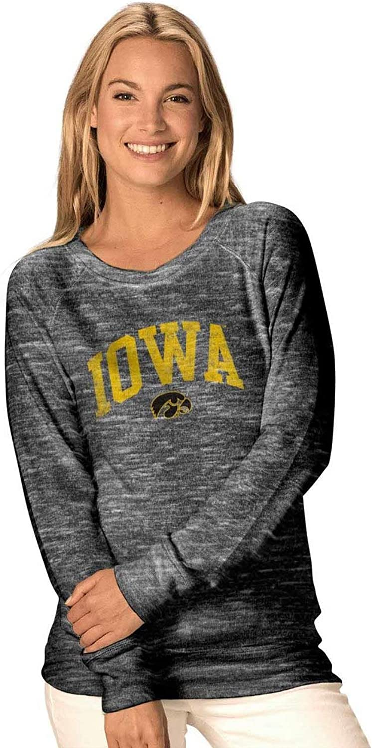 Camp David NCAA Womens Ultimate Lightweight Carefree Crewneck  Multiple Teams, Sizes