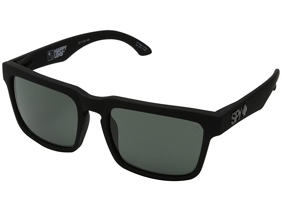 Spy Optic Helm (Soft Matte Black/Happy Gray Green) Fashion Sunglasses