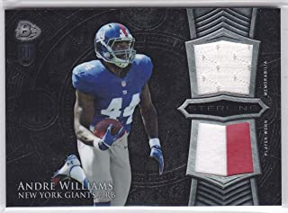 2014 BOWMAN STERLING ANDRE WILLIAMS DUAL JERSEY PATCH ROOKIE