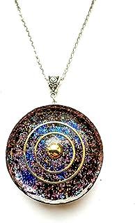 "Colgante Orgonita Orgonita""Planet Galaxy"" piedras, cristales. Reiki, Chakra, hecho a mano"