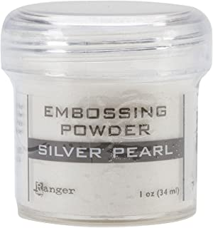 Ranger Embossing Powder, 1-Ounce Jar, Silver Pearl