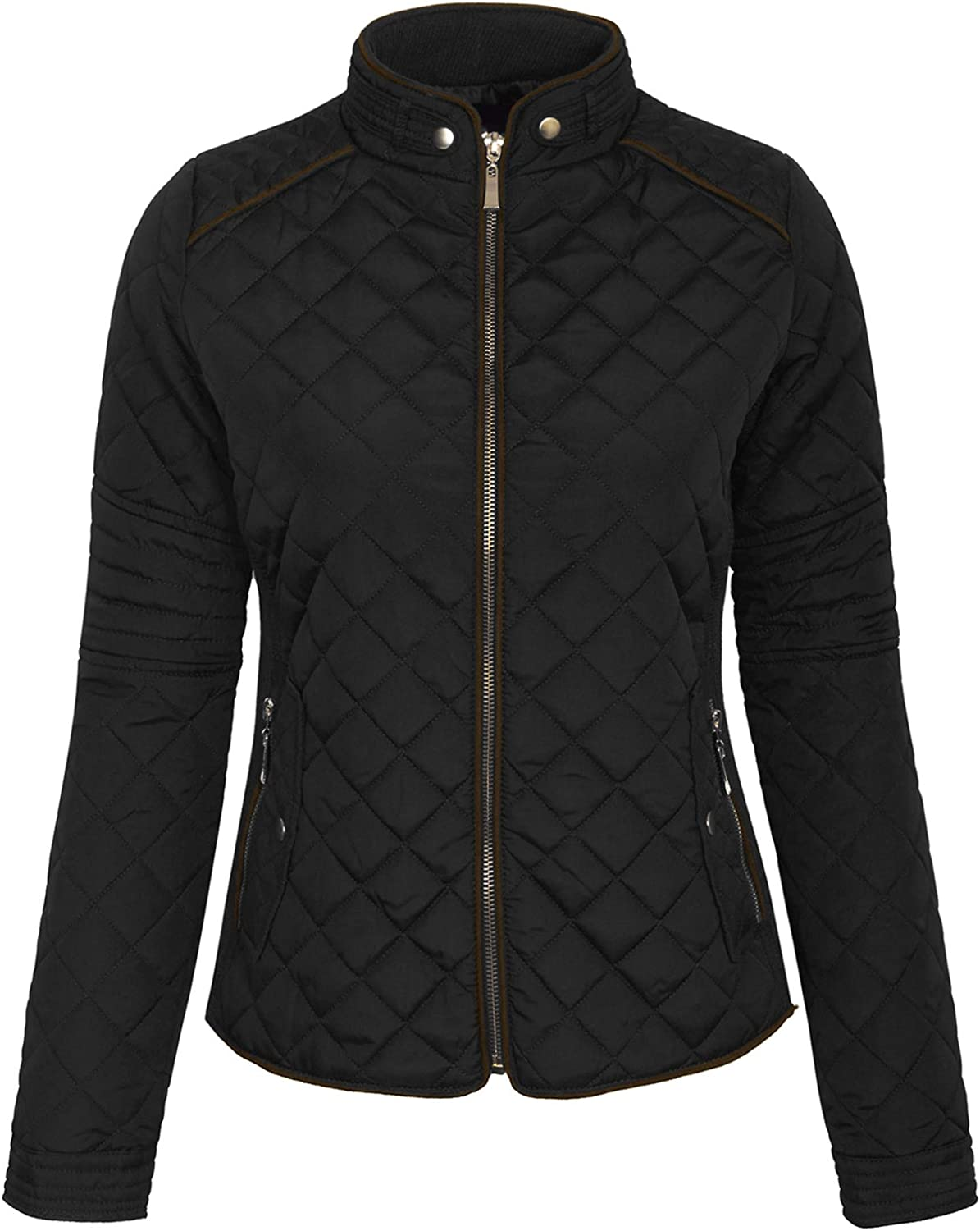 KOGMO Womens Quilted Fully Lined S-3X Zip Lightweight Direct store Up Jacket Mesa Mall