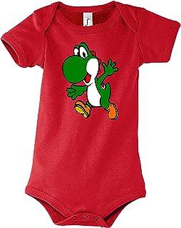 TRVPPY Baby Jungen & Mädchen Kurzarm Body Strampler Modell Yoshi 2, Größe 3-24 Monate in vielen Farben