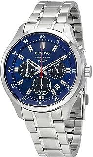 seiko chronograph chronograph blue dial mens watch sks585