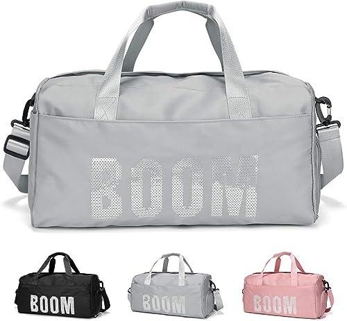 FEDUAN Mod. Boom Sac de Sport Voyage Shopping avec Compartiment à Chaussures Poche mouillée à la Mode imperméable pou...