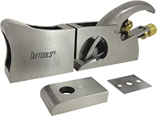 Taytools 469225 3-in-1 Shoulder Plane, Bullnose and Chisel Plane, Ductile Cast Iron, Precision Machined, 1 Inch Wide Blade