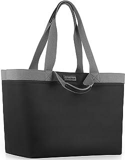 CHICECO XXL Große Shopper Einkaufstasche für Damen für die Arbeit im Fitnessstudio Wasserdichte Strandtasche aus Nylon - S...