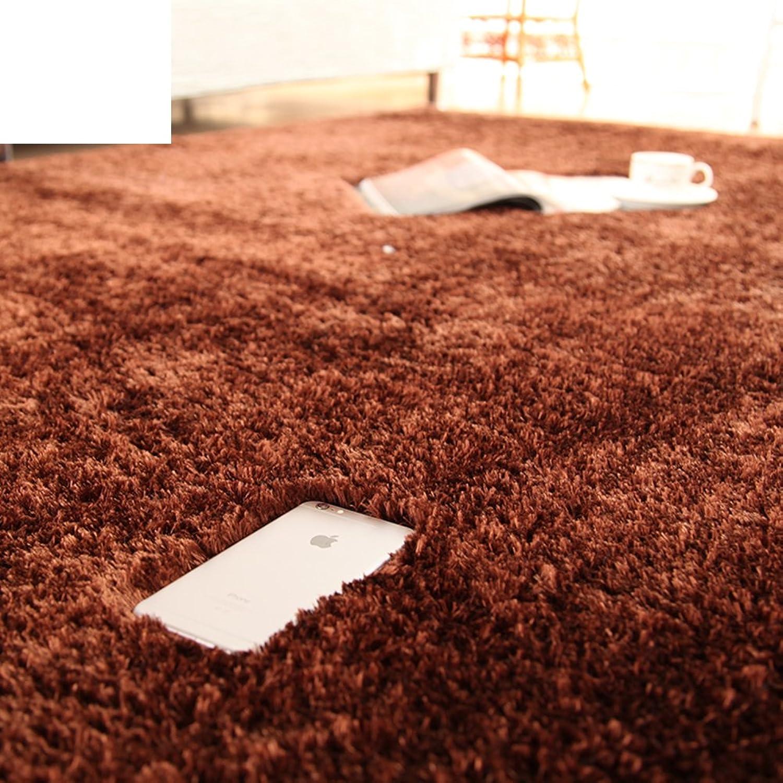 Silk Wool mats Bedroom Living Room Floor mats Doormat Bedroom Blanket for Bedroom -F 140x200cm(55x79inch)