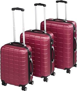 TecTake Set de 3 valises de Voyage de ABS   avec Serrure à Combinaison intégrée   poignée télescopique   roulettes 360° - ...