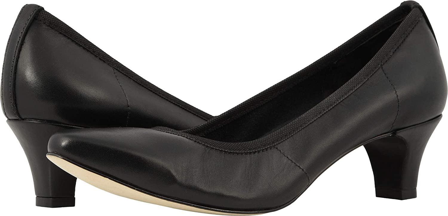 Walking Cradles Womens Joy Leather Closed Toe Classic Pumps