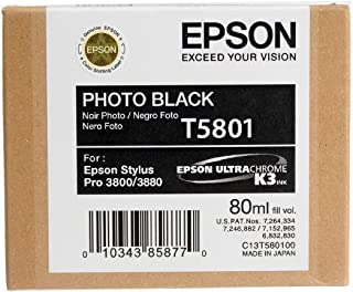 Photo Black Ultrachrome Ink Cartridge 80 - T580100