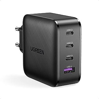 UGREEN USB C Snabbladdare 65W 4 USB Portar med GaN Tech Full Kompatibilitet för alla USB C PC Bärbara Surfplattor Smartpho...