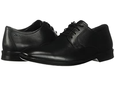 Clarks Bensley Lace (Black Leather) Men
