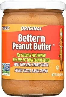 Better 'N Peanut Butter Peanut Butter - Original Flavor - Case of 6 - 16 oz.