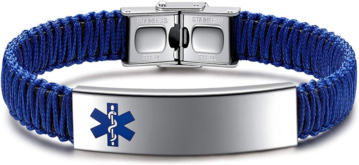 JUST MEET YOU Medical ID Manufacturer regenerated product Ultra-Cheap Deals Alert Brace for Men Bracelets