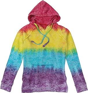MV Sport/S&S Activewear Women's Burnout Hoodie - Batik Print Hooded Sweatshirt