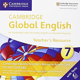 Cambridge Global English Stage 7 Cambridge Elevate Teacher's Resource Access Card: for Cambridge Lower Secondary English a...