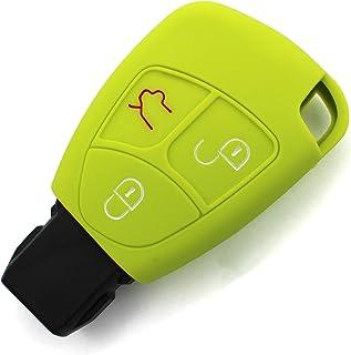 Schlüssel Hülle MA für 3 Tasten Auto Schlüssel Silikon Cover von Finest Folia (Limegreen)