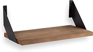 Wallniture Cove Rustic and Modern Home Decor Floating Shelves Wall Mounted Wood Wall Storage Shelves for Living Room, Bedroom, Kitchen and Bathroom, Walnut