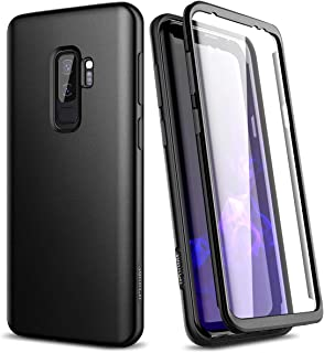 SURITCH Samsung Galaxy S9 Plus Case, [Built-in Screen Protector] Matte Black Hard Full-Body Protection Shockproof Rugged Bumper Protective Cover for Galaxy S9 Plus 6.2 Inch (Matte Black)
