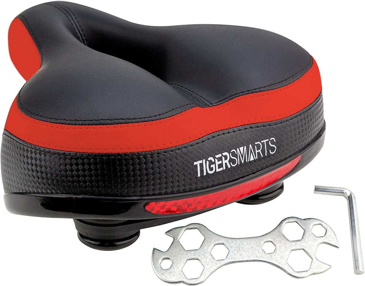 TIGERSMARTS Bike Seat Replacement discount Sea Padded New product! New type Comfortable Bicycle