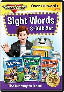 Rock 'N Learn - RL-316 Sight Words 3-DVD Set por: Más de 170+ palabras incluye todas las palabras pre-imprimer, imprimació...
