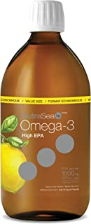 NutraSea Omega 3 Fish Oil Supplement Lemon 500 ml