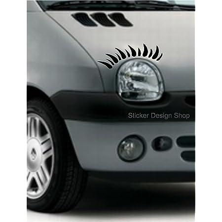 Sticker Design Shop Twingo Wimpern Autoaufkleber Stiker Tuning Auto Aufkleber Beetle Mini Lupo Clio Auto