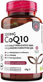 Coenzima Q10 200 mg - 100% Pura Fermentada Naturalmente - 120 Cápsulas Veganas