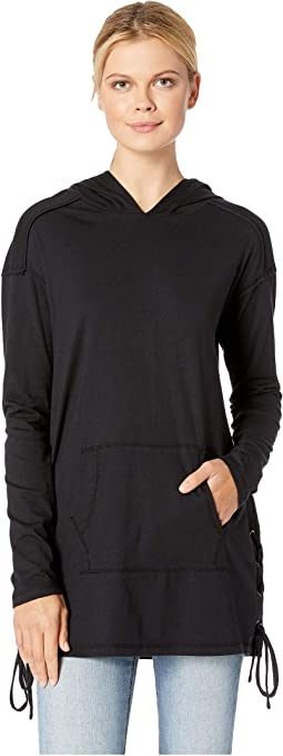 Deluxe Jersey Hooded Tunic with Side Ties