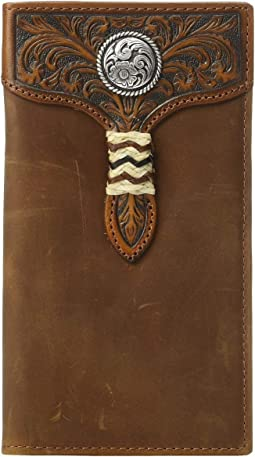 Rawhide Wrap Overlay w/ Concho Rodeo Wallet
