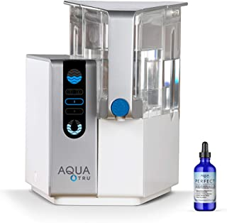 AQUA TRU Countertop Water Filtration Purification System with Perfect Minerals Drops Exclusive 4 - Stage Ultra Reverse Osm...