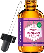 Youth Renewal Serum by Leven Rose 100% Organic Natural Rejuvenation for Collagen Boost, Vitamin C, Anti-Aging, Deep Hydrating for Dry Skin, Collagen Building Face Moisturizer 1 oz