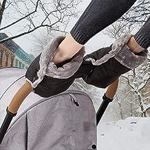 Handwärmer Kinderwagen Handschuhe Handmuff mit warme Fleece und Baumwolle Innenseite Wasserdicht und Winddicht Stroller Handmuff Universalgröße für Kinderwagen, Buggy, Radanhänger
