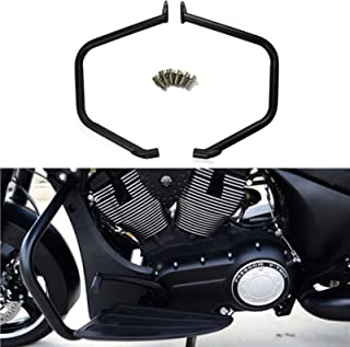 Black Engine Guard Highway Crash Bars Engine Protector for Victory Cross Country Tour Crossroad