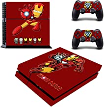 Decal Moments Regular PS4 Console Set Vinyl Skin Decal Stickers Protective for PS4 Playstaion 2 Controllers Iron Man